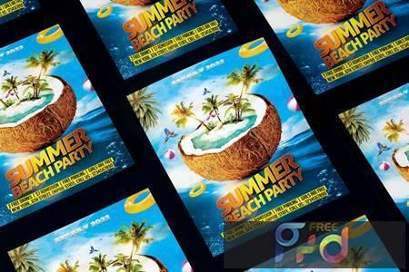Summer Beach Party Flyer WP24G3H 1