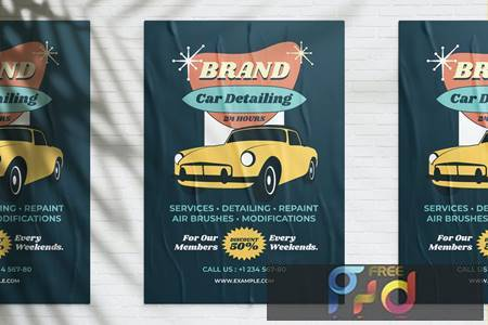 Vintage Car Wash Promotion MW8ELUY 1