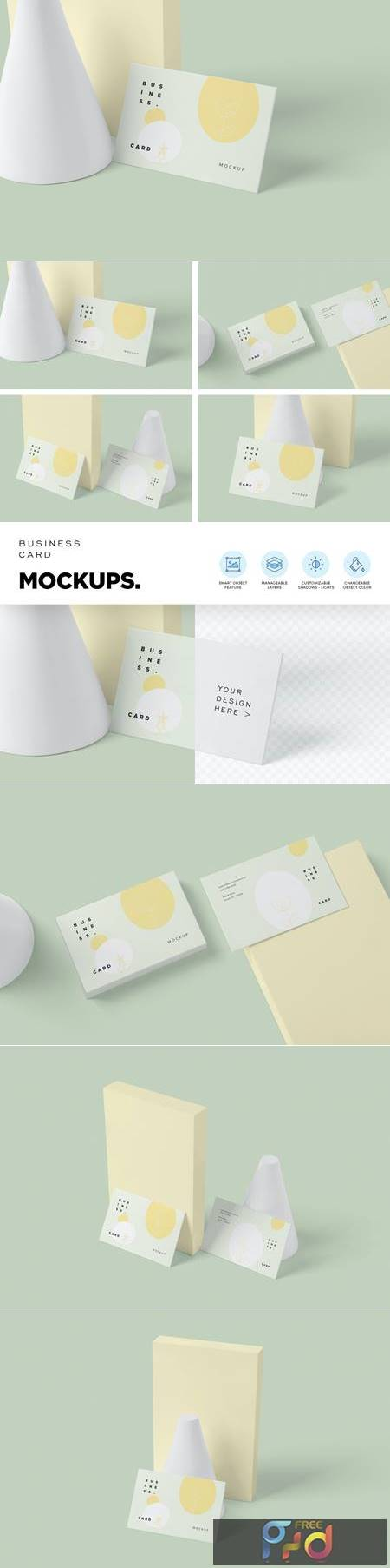 Corporate Business Card Mockups GUE4ELL 1
