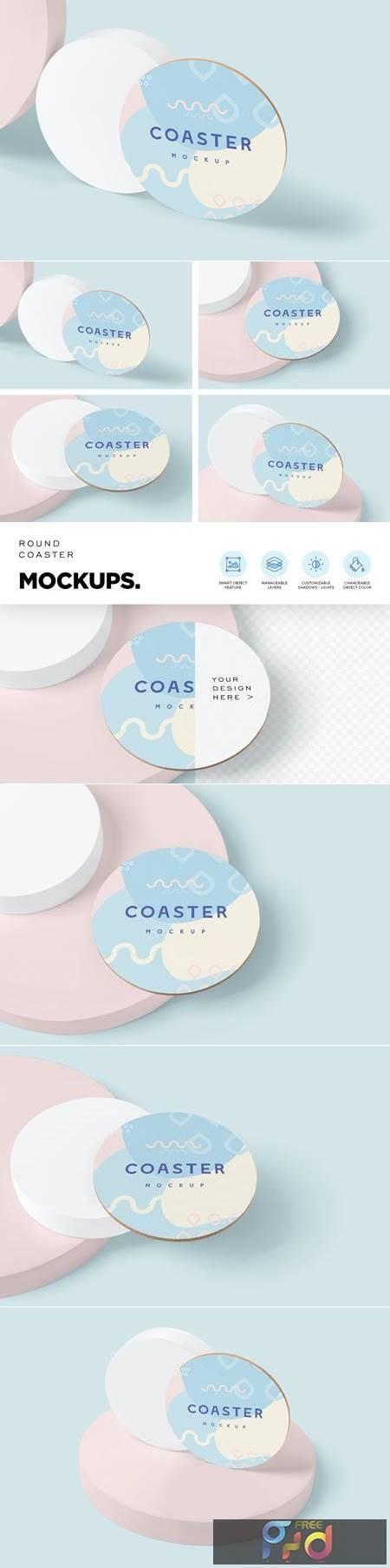 Round Coaster Mock-Ups 52YK229 1