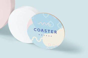 Round Coaster Mock-Ups 52YK229 2