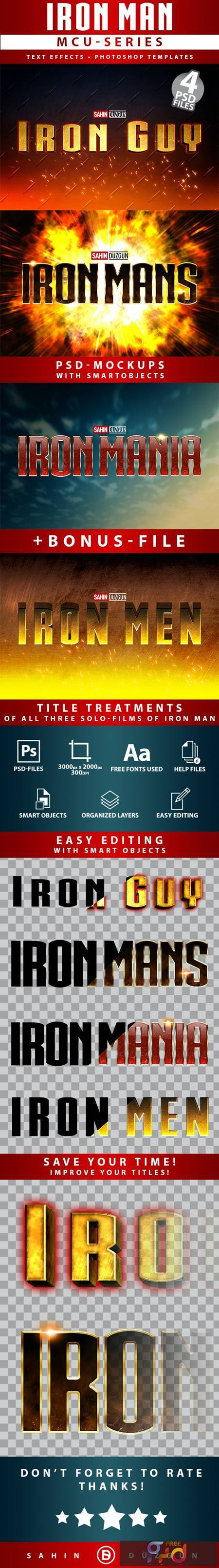 IRON MAN - MCU-Film Series - Text-Effects-Mockups - Template-Package 26615003 1