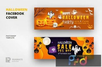 Halloween Facebook Cover Template K7GRB5S 12