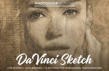Da Vinci Sketch Action for Photoshop 4847888 2