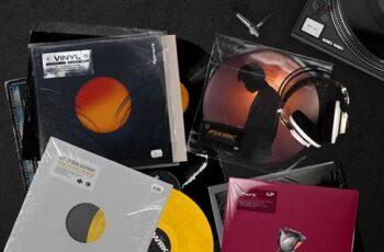 Retro Vinyl Record Mockup 4383563 6