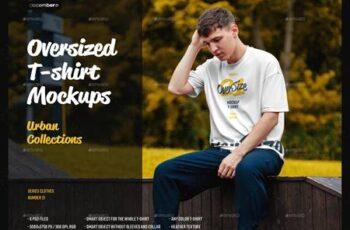 6 Oversized T-shirt Mockup Urban Style 28713242 6