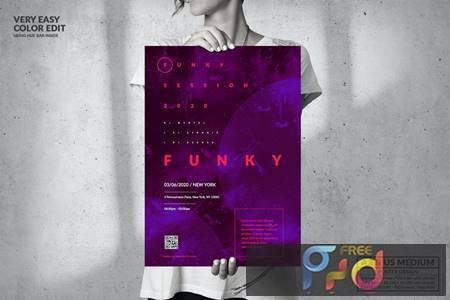 Music Event - Big Poster Design UF54L8P 1