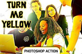 Turn Me Yellow - PhotoShop Action 4679870 5