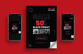 Black Friday Sale Flyer + Social Media 9ELDB65 3