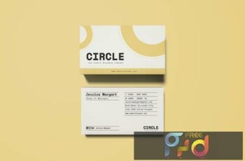 Circle Business Card 7YYSSXF 6