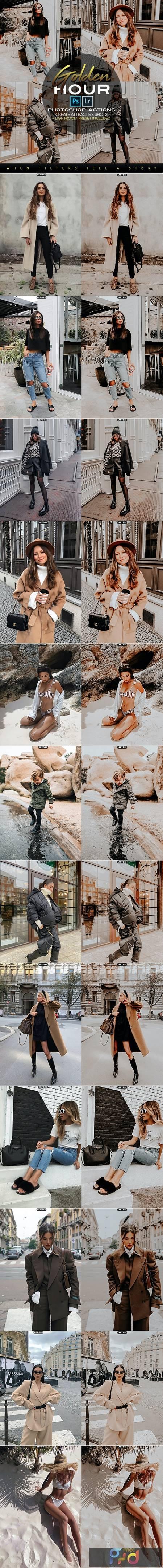 Golden Hour Photoshop Actions + LR Presets 28144667 1