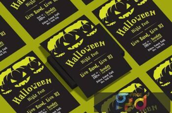 Halloween Flyer Design Template Vol.03 FZ2MTWE 14