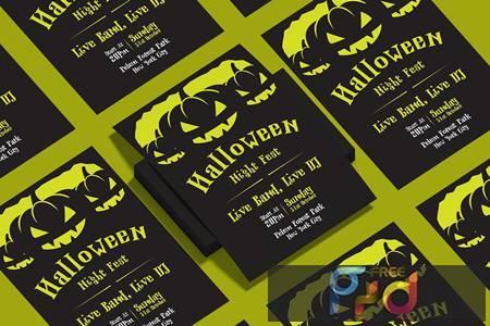 Halloween Flyer Design Template Vol.03 FZ2MTWE 1