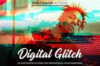 Digital Glitch Actions for Photoshop 4845098 6