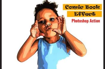 Comic Book Effect Photoshop Action 4892592 1