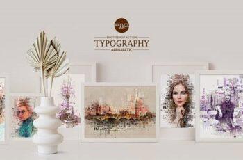 Typography (Alphabetic) Photoshop Action 28381215 7