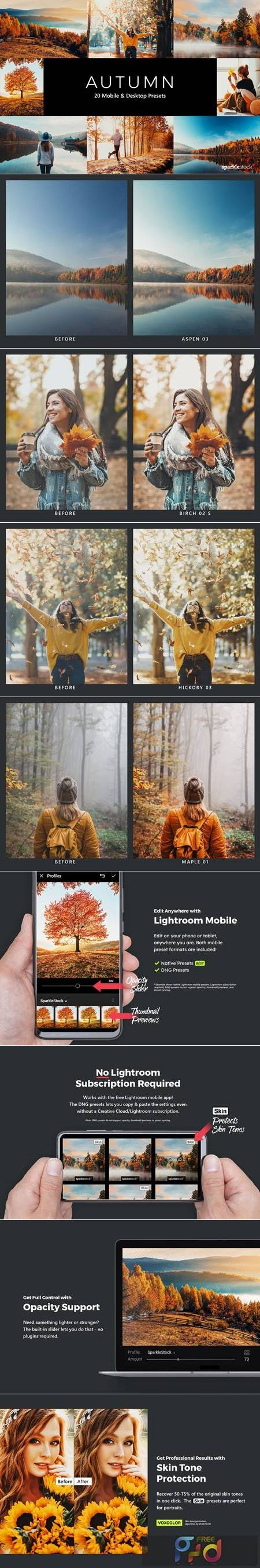 20 Autumn Lightroom Presets & LUTs TYV5HPC 1