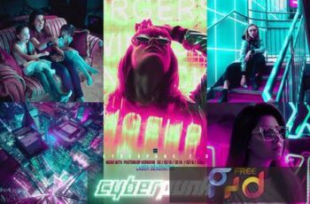 Cyber Punk City Photoshop 7HYZLF4 2