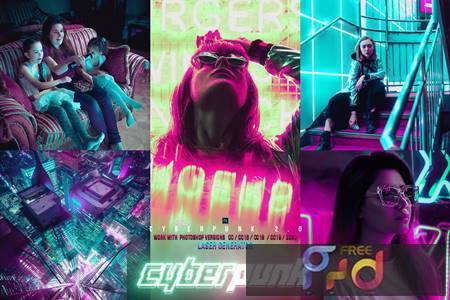 Cyber Punk City Photoshop 7HYZLF4 1
