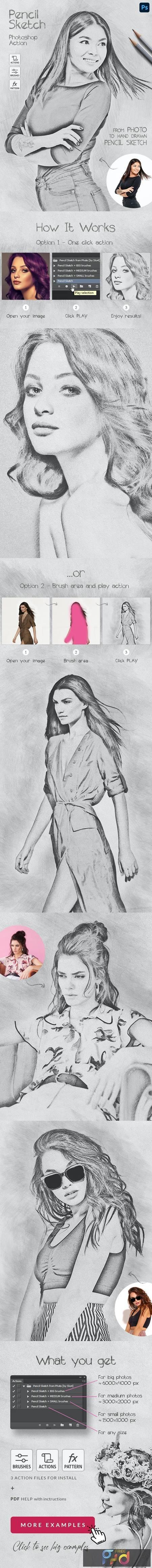 Pencil Sketch - Photoshop Action 28585827 1