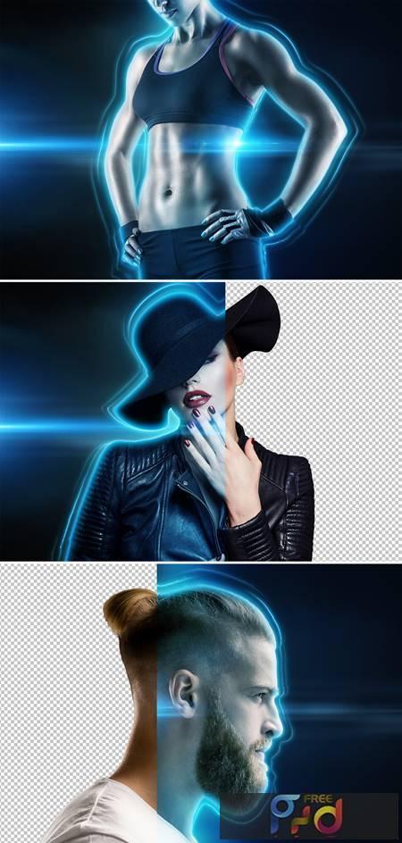 Glowing portrait photo effect mockup 372765296 1