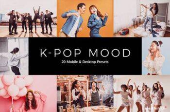 20 K-Pop Mood Lightroom Presets & LUTs PPMYYA5 4