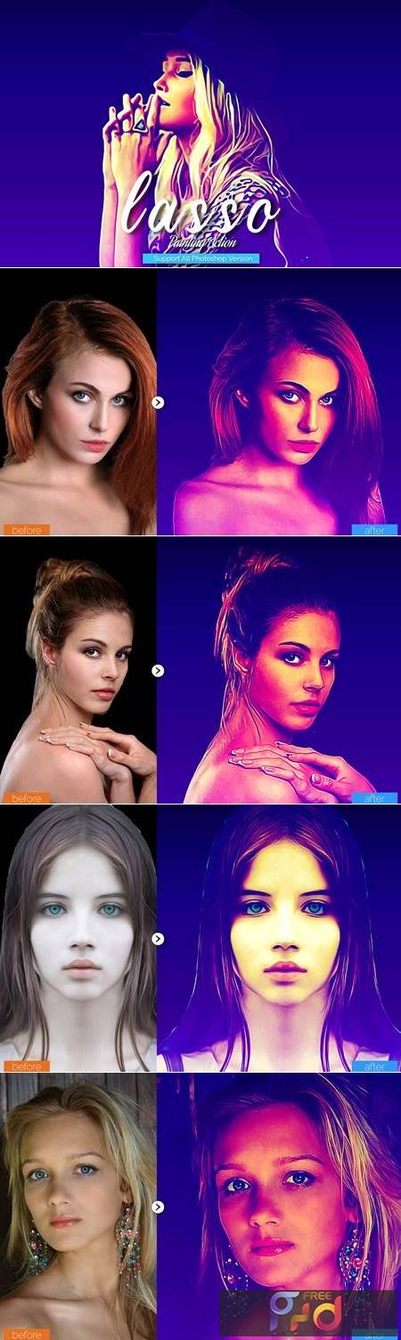 Lasso Painting Photoshop Action 5444739 1