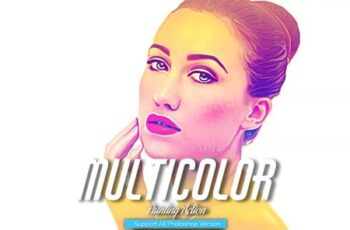 MultiColor Painting Photoshop Action 5444683 12