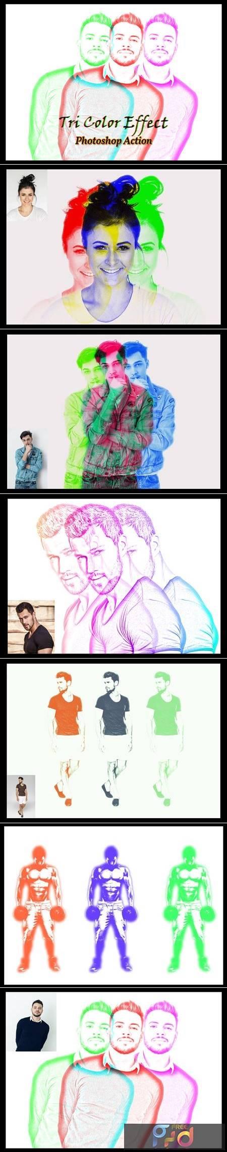 Tri Color Effect Photoshop Action 4834996 1