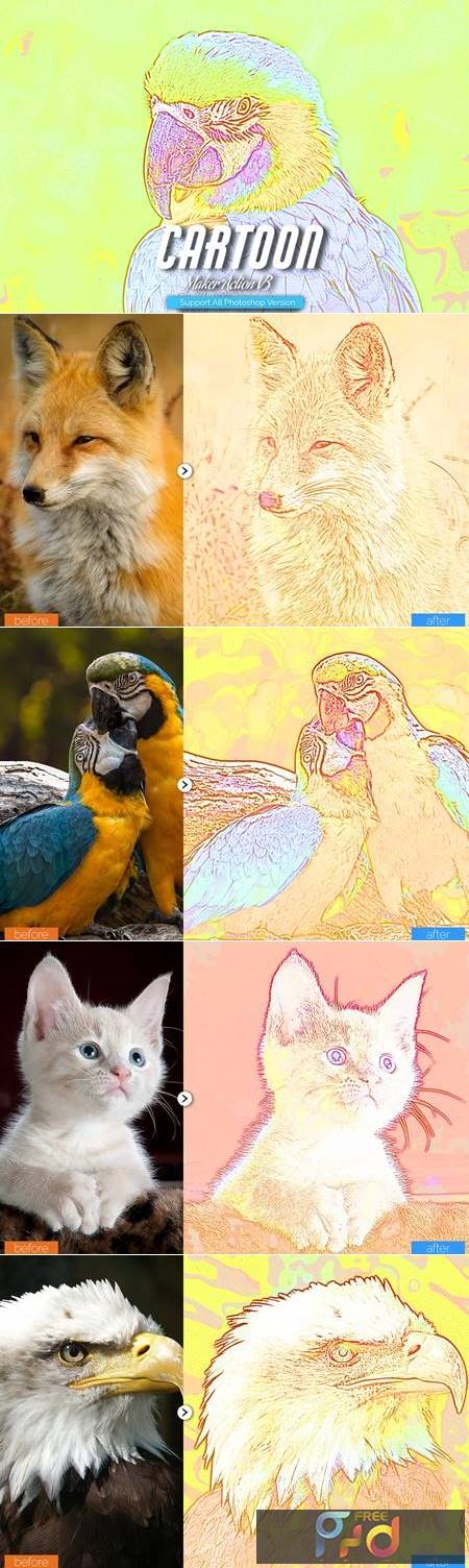 Cartoon Maker Photoshop Action V3 5457120 1