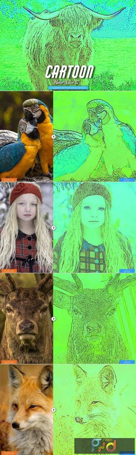 Toon Maker Photoshop Action V2 5457093 1