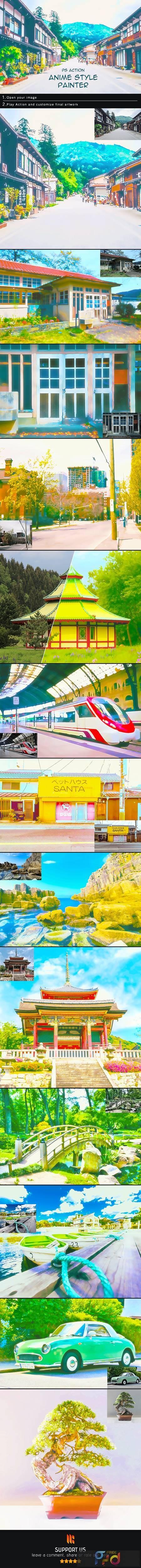 Anime Style Painter Photoshop Action 28231990 1