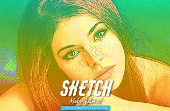Color Sketch Photoshop Action V2 5467241 1