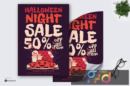 Halloween Night Sale - Poster GR 8FAZ66U 1