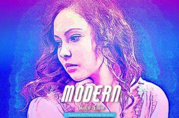 Modern Sketch Photoshop Action 5467530 3