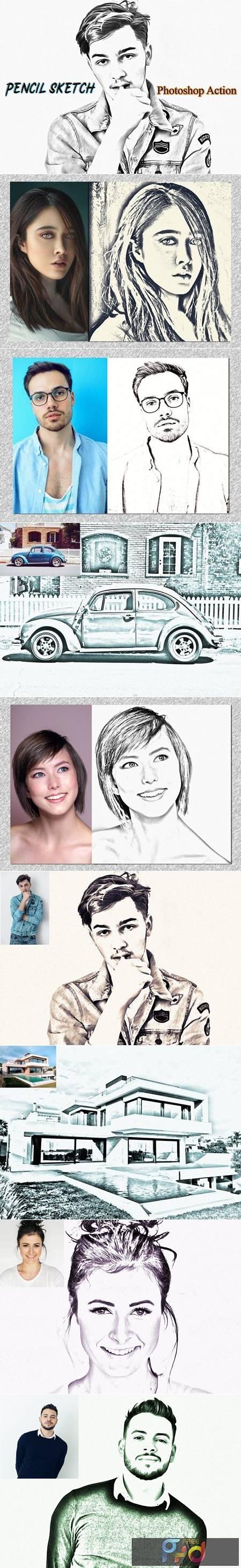 Pencil Sketch Photoshop Action 4822405 1