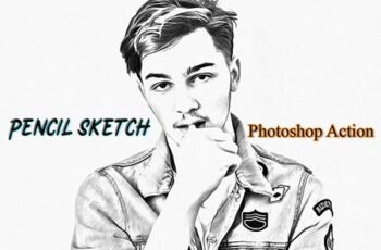 Pencil Sketch Photoshop Action 4822405 3