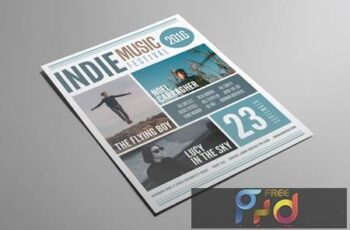 Indie Music Festival Flyer 2CHFL72 9