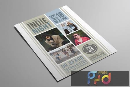 Indie Night Flyer MKDWNMQ 1