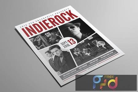 Indie Rock Flyer F8Y8CDL 1