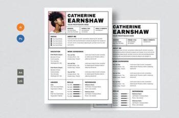 Resume & CV Template V66HJVP 16