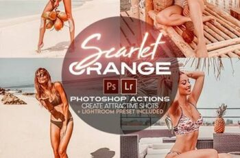 Scarlet Orange Photoshop Actions + LR Presets 28257322 5