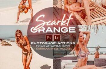 Scarlet Orange Photoshop Actions + LR Presets 28257322 1