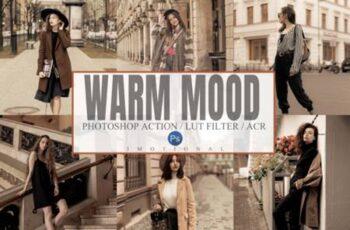 6 Warm Mood Photoshop Action, ACR, LUT 5920083 11