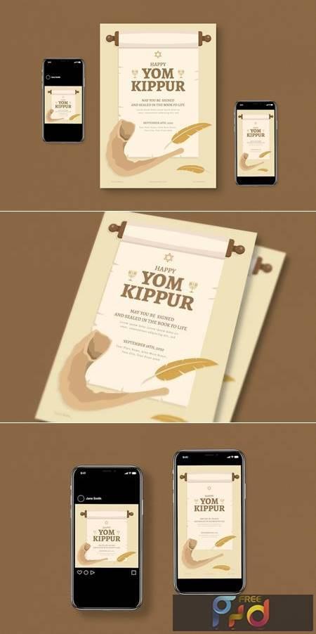 Yom kippur Flyer Set JXXTUXG 1