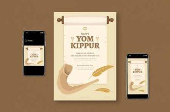 Yom kippur Flyer Set JXXTUXG 6