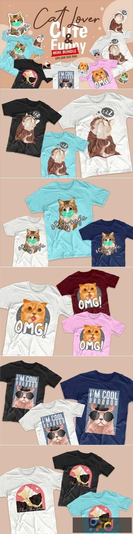 Cute Cat Cartoon Bundle 5282472 1