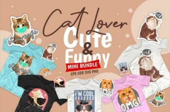 Cute Cat Cartoon Bundle 5282472 3