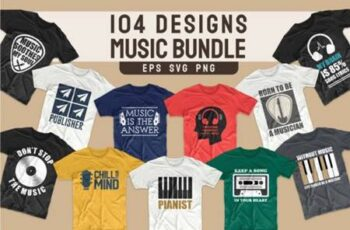 T-shirt Designs Bundle Music Slogans 5657069 2