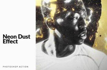 Neon Dust Photoshop Action 5350079 6